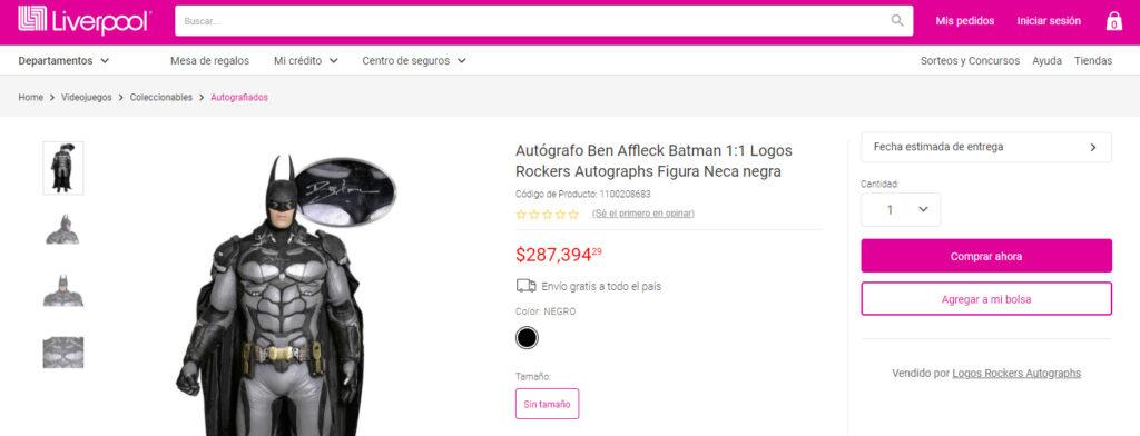A la venta en tienda departamental figura de Batman única en el mundo