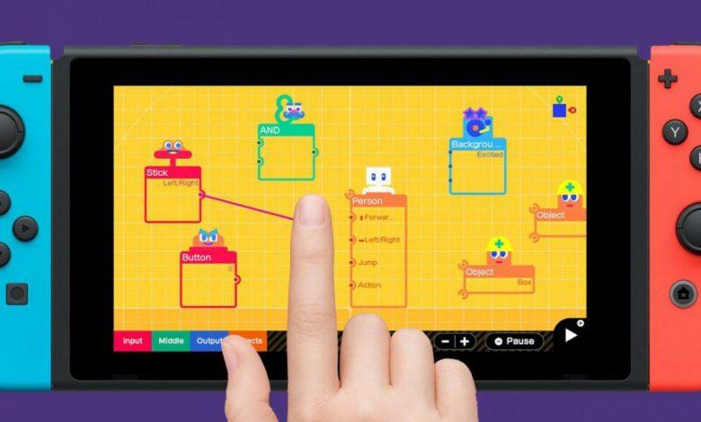 Game Builder Garage: así quiere Nintendo enseñarnos a programar videojuegos